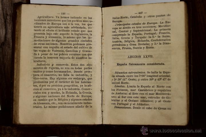 Libros antiguos: D-026. CURSO ELEMENTAL DE GEOGRAFIA. ANTONIO FORNES. IMP. JAIME JEPUS. 1875. - Foto 3 - 41705679