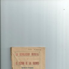 Libros antiguos: LA REVOLUCION MUNDIAL O EL PELIGRO DE LAS NACIONES. CRISTINO MORRONDO. JAÉN 1926. Lote 42533236