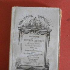 Libros antiguos: CONTRADICIONES POLITICAS. TEORIA DEL MOVIMIENTO CONSTITUCIONAL EN EL S. XIX. P.J. PROUDHON. Lote 42879248