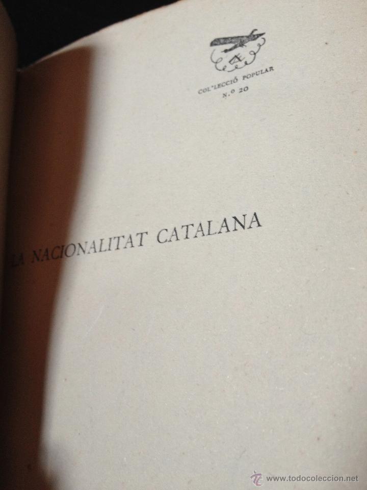 Libros antiguos: La nacionalitat catalana - Enric Prat de la Riba - Les ales esteses Col.lecció Popular n.20 any 1930 - Foto 2 - 43936709