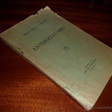 Libros antiguos: ANTISOCIALISMO. MARIANO CUBER (1933). Lote 45683249