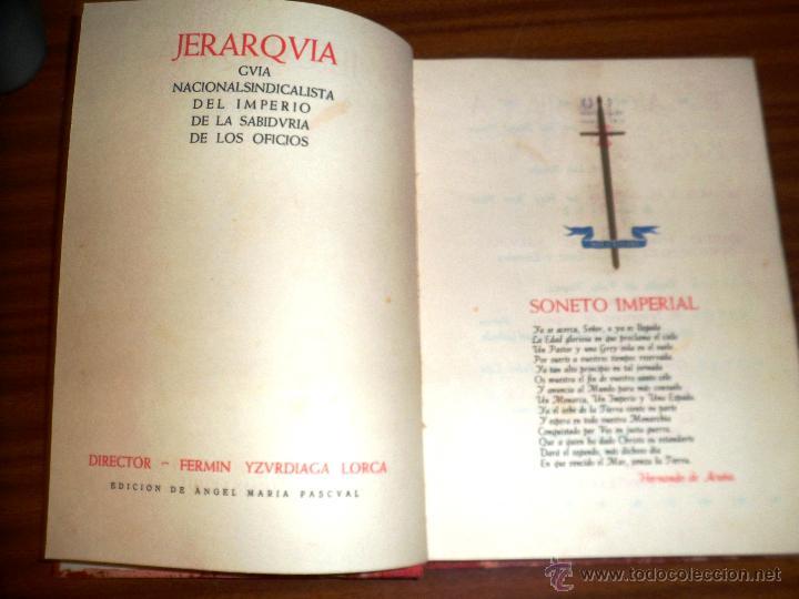 Jerarquia. la revista negra de la falange. en n - Vendido en Subasta -  45911665
