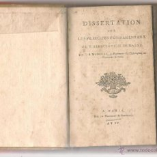 Libros antiguos: MAUGRAS, DISSERTATION SUR LES PRINCIPES FONDAMENTAUX DE L`ASSOCIATION HUMAINE 1796. Lote 46707505