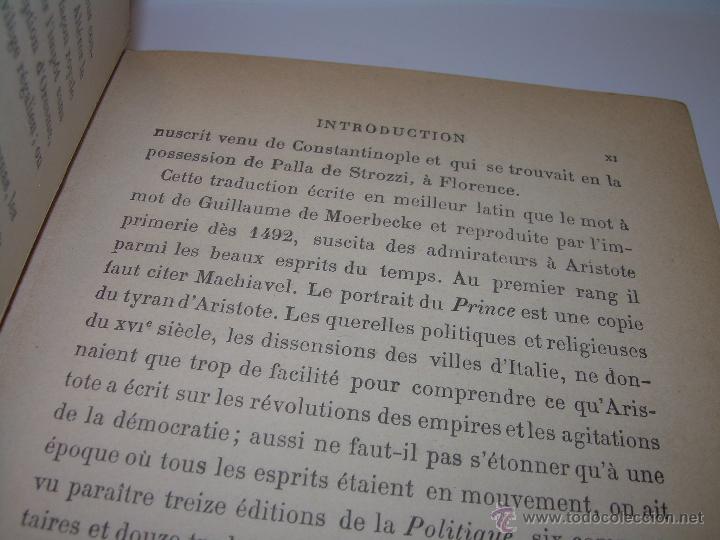 Libros antiguos: LIBRO TAPAS DE PIEL......LA POLITIQUE DE ARISTOTE. - Foto 7 - 48369711
