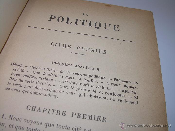 Libros antiguos: LIBRO TAPAS DE PIEL......LA POLITIQUE DE ARISTOTE. - Foto 9 - 48369711