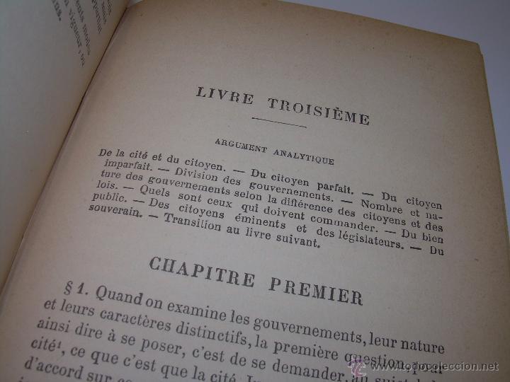 Libros antiguos: LIBRO TAPAS DE PIEL......LA POLITIQUE DE ARISTOTE. - Foto 10 - 48369711
