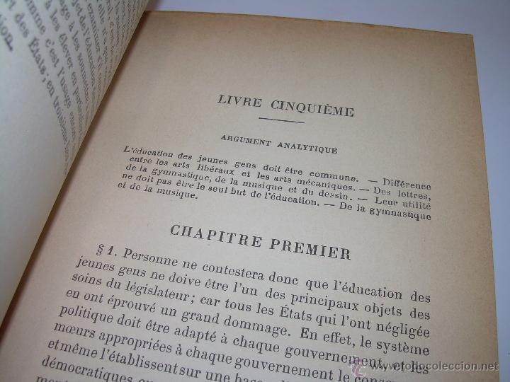 Libros antiguos: LIBRO TAPAS DE PIEL......LA POLITIQUE DE ARISTOTE. - Foto 11 - 48369711