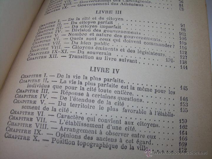 Libros antiguos: LIBRO TAPAS DE PIEL......LA POLITIQUE DE ARISTOTE. - Foto 13 - 48369711