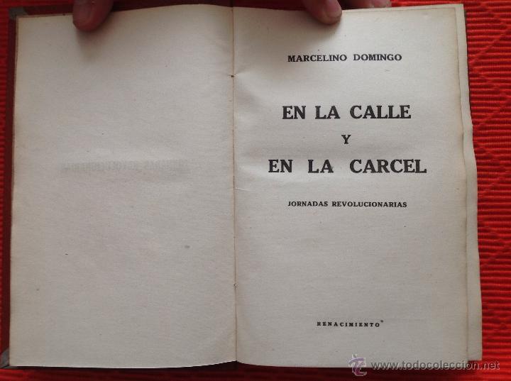 EN LA CALLE Y EN LA CARCEL (Libros Antiguos, Raros y Curiosos - Pensamiento - Política)