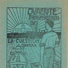 Libros antiguos: LA CUESTION OBRERA. IX: DE LAS PENALIDADES DE LA VIDA HUMANA. 1920. . Lote 49574886