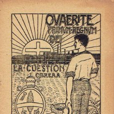 Libros antiguos: LA CUESTION OBRERA. XI: EL OBRERO DEBE TRABAJAR. 1920. . Lote 49574904