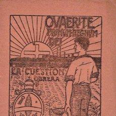 Libros antiguos: LA CUESTION OBRERA. XII: DEL TRABAJO INMORAL. 1920. . Lote 49574919
