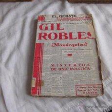 Libros antiguos: GIL ROBLES¿MONARQUICO?MISTERIOS DE UNA POLITICA.J.CORTES CAVANILLAS.LIBRERIA SAN MARTIN MADRID 1935. Lote 50715707