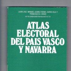 Libros antiguos: ATLAS ELECTORAL DEL PAÍS VASCO Y NAVARRA CENTRO DE INVESTIGACIONES SOCIOLÓGICAS 1981 POLÍTICA. Lote 50716957