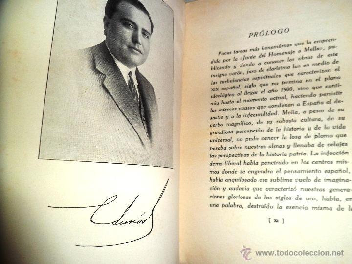 Libros antiguos: REGIONALISMO. TOMOS I Y II. DON JUAN VAZQUEZ DE MELLA Y FANJUL. (1935) VER DETALLES. 1A EDICIÓN - Foto 2 - 51480922