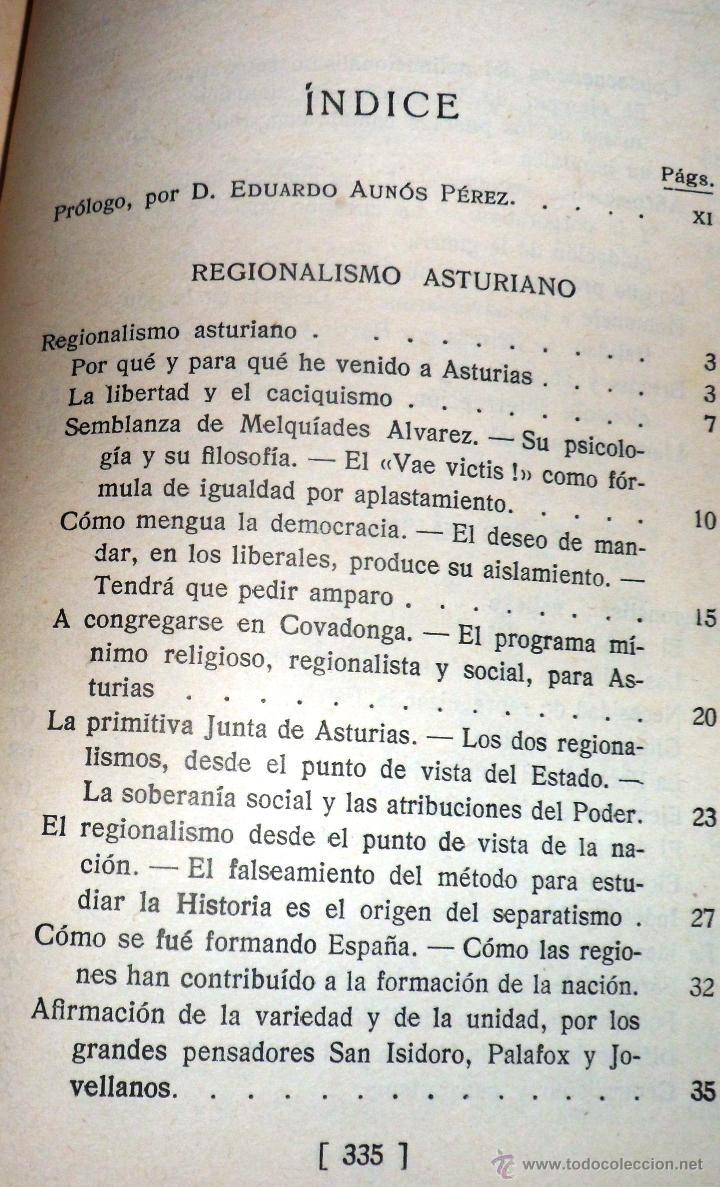 Libros antiguos: REGIONALISMO. TOMOS I Y II. DON JUAN VAZQUEZ DE MELLA Y FANJUL. (1935) VER DETALLES. 1A EDICIÓN - Foto 4 - 51480922