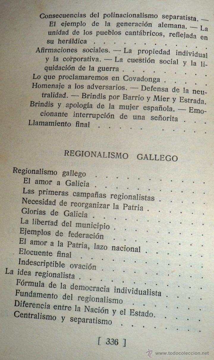 Libros antiguos: REGIONALISMO. TOMOS I Y II. DON JUAN VAZQUEZ DE MELLA Y FANJUL. (1935) VER DETALLES. 1A EDICIÓN - Foto 5 - 51480922