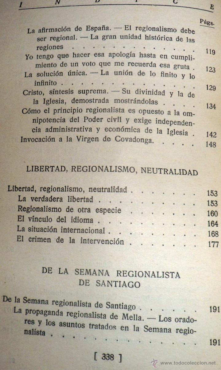 Libros antiguos: REGIONALISMO. TOMOS I Y II. DON JUAN VAZQUEZ DE MELLA Y FANJUL. (1935) VER DETALLES. 1A EDICIÓN - Foto 7 - 51480922