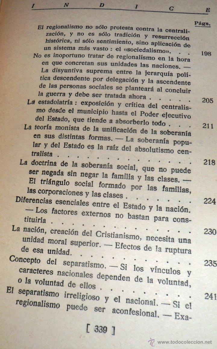 Libros antiguos: REGIONALISMO. TOMOS I Y II. DON JUAN VAZQUEZ DE MELLA Y FANJUL. (1935) VER DETALLES. 1A EDICIÓN - Foto 8 - 51480922