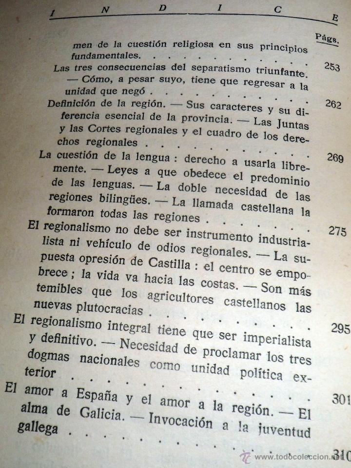 Libros antiguos: REGIONALISMO. TOMOS I Y II. DON JUAN VAZQUEZ DE MELLA Y FANJUL. (1935) VER DETALLES. 1A EDICIÓN - Foto 9 - 51480922