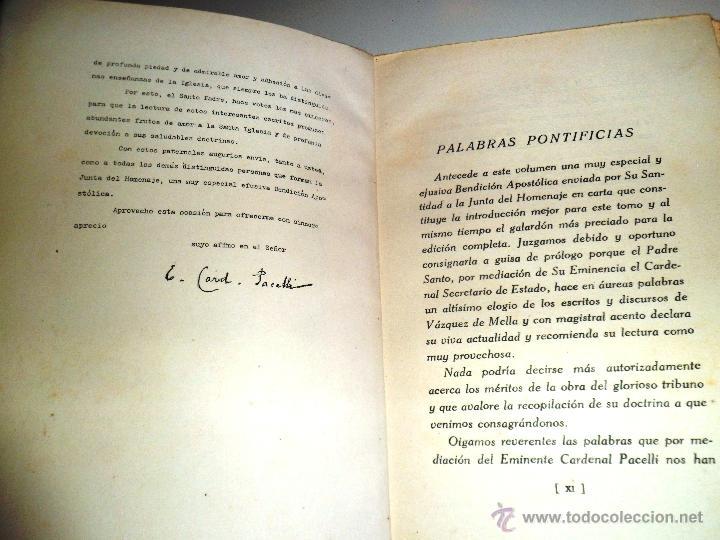 Libros antiguos: REGIONALISMO. TOMOS I Y II. DON JUAN VAZQUEZ DE MELLA Y FANJUL. (1935) VER DETALLES. 1A EDICIÓN - Foto 13 - 51480922