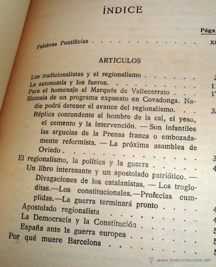 Libros antiguos: REGIONALISMO. TOMOS I Y II. DON JUAN VAZQUEZ DE MELLA Y FANJUL. (1935) VER DETALLES. 1A EDICIÓN - Foto 15 - 51480922