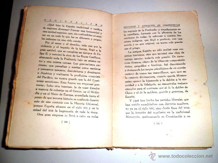 Libros antiguos: REGIONALISMO. TOMOS I Y II. DON JUAN VAZQUEZ DE MELLA Y FANJUL. (1935) VER DETALLES. 1A EDICIÓN - Foto 17 - 51480922