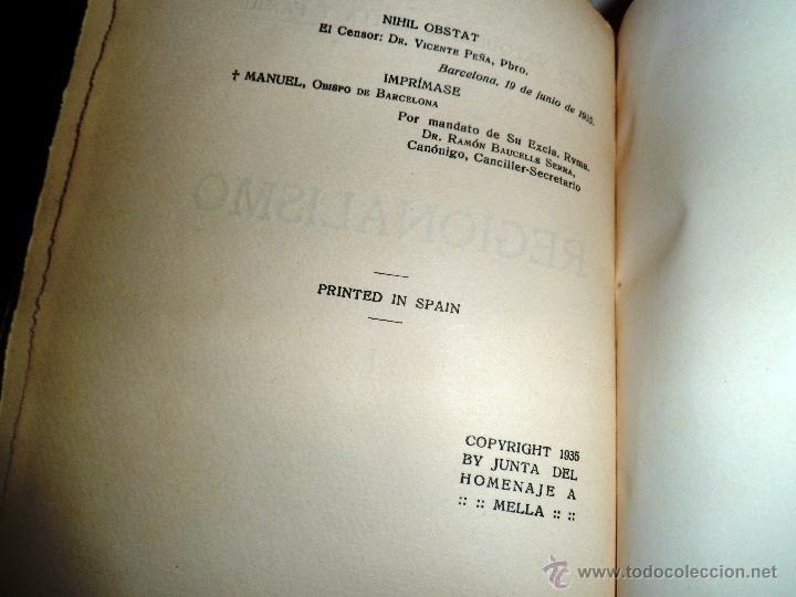 Libros antiguos: REGIONALISMO. TOMOS I Y II. DON JUAN VAZQUEZ DE MELLA Y FANJUL. (1935) VER DETALLES. 1A EDICIÓN - Foto 18 - 51480922