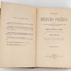 Libros antiguos: CURSO DE DERECHO POLÍTICO - VICENTE SANTAMARÍA DE PAREDES. Lote 51647140