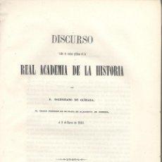 Libros antiguos: SALUSTIANO DE OLÓZAGA. SOBRE LAS LIBERTADES DE ARAGÓN. (DISCURSO ACADEMIA HISTORIA). MADRID, 1853.. Lote 52278306