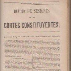 Libros antiguos: DIARIO DE SESIONES DE LAS CORTES CONSTITUYENTES 1869 - TOMO I - J.A.GARCÍA, IMPRESOR 1870 / MADRID. Lote 52314693