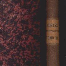 Libros antiguos: DIARIO DE SESIONES DE LAS CORTES CONSTITUYENTES 1869 - TOMO VI - MADRID. Lote 52367539