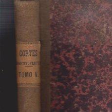 Libros antiguos: DIARIO DE SESIONES DE LAS CORTES CONSTITUYENTES 1869 - TOMO V - MADRID. Lote 52367660