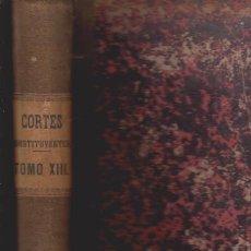 Libros antiguos: DIARIO DE SESIONES DE LAS CORTES CONSTITUYENTES 1869 - TOMOXIII - MADRID 1870. Lote 52368191