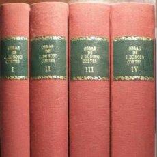 Libros antiguos: DONOSO CORTES, JUAN: OBRAS. 4 VOLS. . Lote 53181609