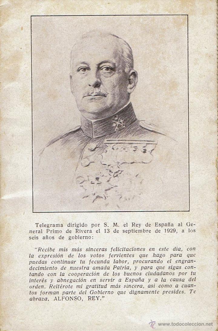 Libros antiguos: POSTAL LIBRITO. TELEGRAMA DE S.M. EL REY AL GENERAL PRIMO DE RIVERA. LA NUEVA ESPAÑA. AÑO 1929(5.2) - Foto 2 - 54568817