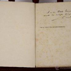 Libros antiguos: 6813 - DE LA VIDA I DEL GOVERN D'ESPANYA. J. VALLÉS PUJALS. IMP. CASA CARITAT. S/F.. Lote 50213290