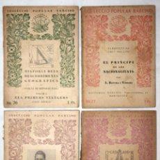 Libros antiguos: COLECCIÓN 4 LIBRITOS COL·LECCIÓ POPULAR BARCINO 1927-1935. EDITORIAL BARCINO.. Lote 55388136