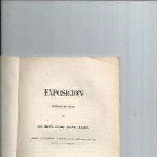 Libros antiguos: 1859 - NEGOCIOS DE MÉXICO - EXPOSICIÓN DIRIGIDA A LAS CORTES - MIGUEL DE LOS SANTOS ÁLVAREZ. Lote 57272000