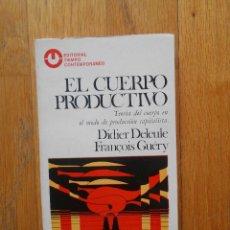 Libros antiguos: EL CUERPO PRODUCTIVO, TEORIA DEL CUERPO EN EL MODO DE PRODUCCION CAPITALISTA, VARIOS AUTORES. Lote 57904701