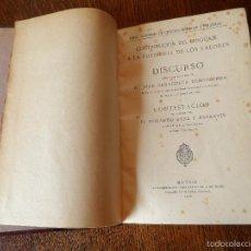 Libros antiguos: DISCURSO DE ILMO. D. JUAN ZARAGÜETA BENGOECHEA, REAL ACADEMIA DE CIENCIAS MORALES Y POLÍTICAS,1920. Lote 57950598