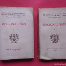 Libros antiguos: REGIONALISMO I Y II JUAN VAZQUEZ DE MELLA Y FANJUL JUNTA DEL HOMENAJE 1935. Lote 59144720