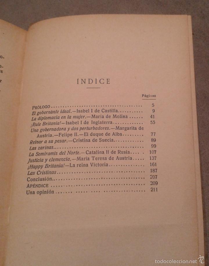 Libros antiguos: EL GOBIERNO DE LAS MUJERES, ENSAYO HISTÓRICO DE POLÍTICA FEMENINA. PALACIO VALDÉS (1931) - Foto 3 - 59177155