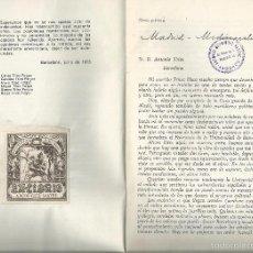 Libros antiguos: CARTAS ... RAMÓN PRIETO BANCES ... ANTONIO TRÍAS PUJOL - 1935. Lote 59695755