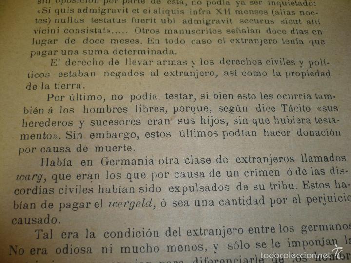 Libros antiguos: CONDICION JURIDICA DEL EXTRANJERO EDAD MEDIA ,N.ALONSO VALLADOLID 1900 IMP.J.M.CUESTA - Foto 4 - 60886847