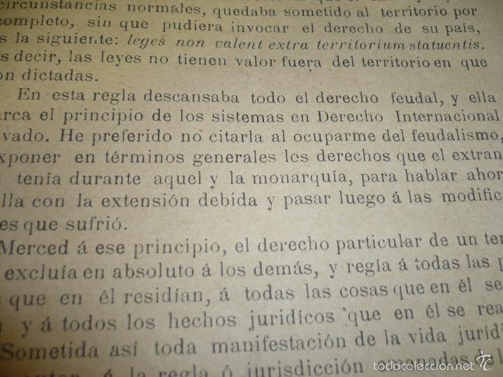 Libros antiguos: CONDICION JURIDICA DEL EXTRANJERO EDAD MEDIA ,N.ALONSO VALLADOLID 1900 IMP.J.M.CUESTA - Foto 5 - 60886847
