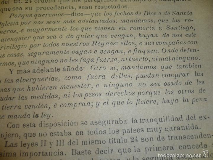 Libros antiguos: CONDICION JURIDICA DEL EXTRANJERO EDAD MEDIA ,N.ALONSO VALLADOLID 1900 IMP.J.M.CUESTA - Foto 6 - 60886847