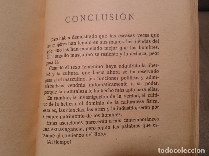 Libros antiguos: EL GOBIERNO DE LAS MUJERES, ENSAYO HISTÓRICO DE POLÍTICA FEMENINA. PALACIO VALDÉS (1931) - Foto 4 - 59177155