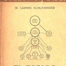 Libros antiguos: SCHLESINGER : EL ESTADO DE LOS SOVIETS (LABOR, 1932). Lote 67291853