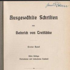 Libros antiguos: HEINRICH VON TREITSCHKE - AUSGEWÄHLTE SCHRIFTEN - ERSTER BAND - S. HIRZEL 1920. Lote 68545729